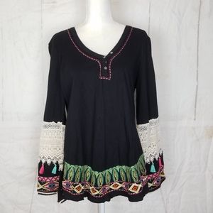 Judith march  embroidered top